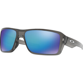 Oakley Double Edge Brille grey smoke/prizm sapphire polarized